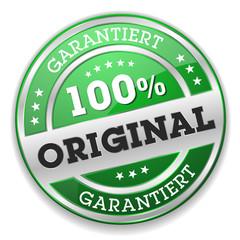 Grüner 100 Prozent Original Siegel Mit Silber Rand