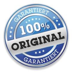Blauer 100 Prozent Original Siegel Mit Silber Rand