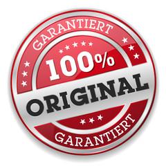 Roter 100 Prozent Original Siegel Mit Silber Rand