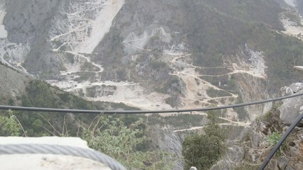 View of the white marble quarry in Carrara