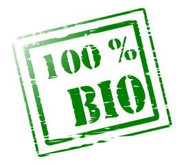 Stempel 100 Prozent Bio