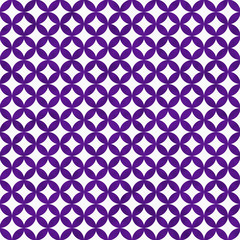 Purple and White Interconnected Circles Tiles Pattern Repeat Bac