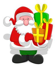 Cartoon Santa - Christmas Vector Illustration