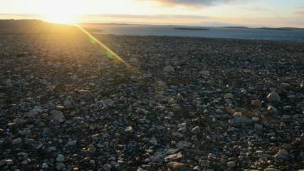 Sunset on Spitzberg archipelago