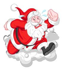 Cartoon Funny Santa - Christmas Vector Illustration