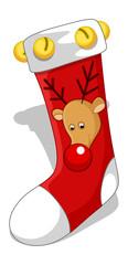 Santa Socks - Christmas Vector Illustration