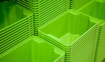 Boîtes de rangement verte