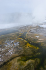 Colorful geyser flow