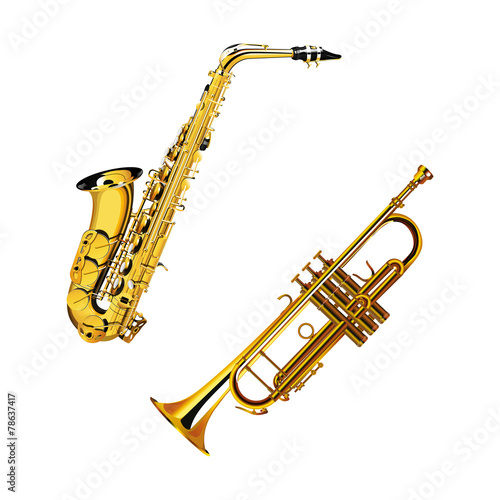 saxophone and trumpet - 78637417
