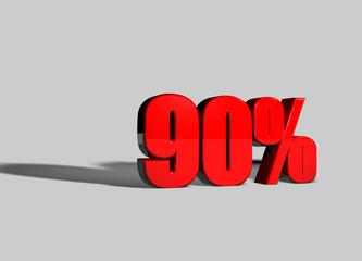 90 percento