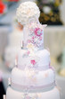 Fancy delicious white wedding cake