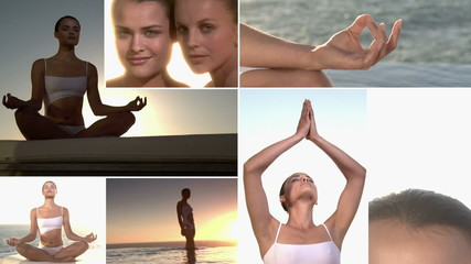 Sunset meditation -  Multiscreen