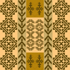 Seamless pattern with traditional native american indian motifs