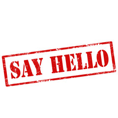 Say Hello-stamp