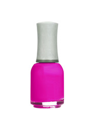 Nail polish of pink color isolated on white