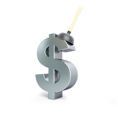 plunger dollar sign
