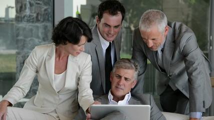 Successful business team talking