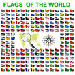 Set of Flags of world sovereign states. Vector illustration - 78639686