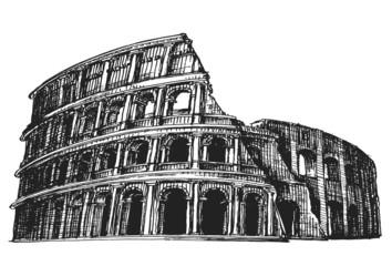 Colosseum vector logo design template. Italy or Rome icon.