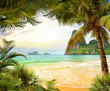 Leinwanddruck Bild - Palm beach