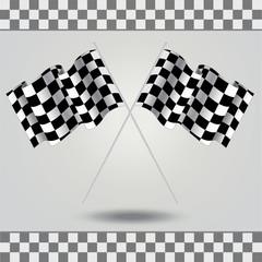 Checkered flag for racing.