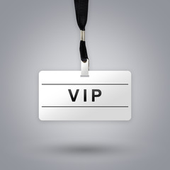 VIP or Very Important Person on badge