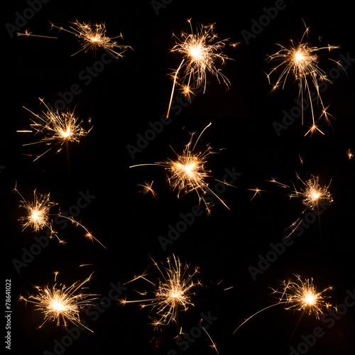 Poster Vuur / Vlam Fireworks background