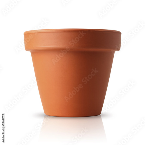 flower pot isolated on white - 78641078