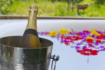jacuzzi and champagne