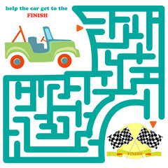 Funny labyrinth with car