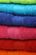 background of stacked colorful fluffy cotton  towels - 78641680