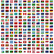 Flags of the world and  map on white background. Vector illustra - 78641833