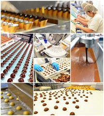 Produktion in Schokoladenmanufaktur // chocolate manufactory