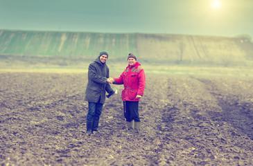 Farmers shaking hands