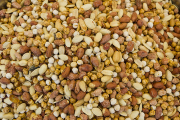 mixed nuts close up