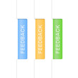 Set of feedback tabs. Design template. Vector illustration