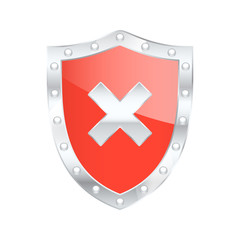 Protected shield Risk. Vector illustration