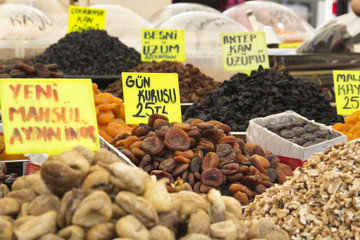dried fruits on market