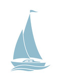 Sailboat vector icon on white background - 78643862