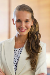 Portrait of young executive woman