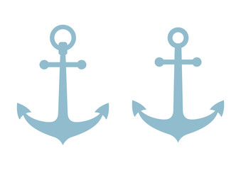Anchor icons on white background