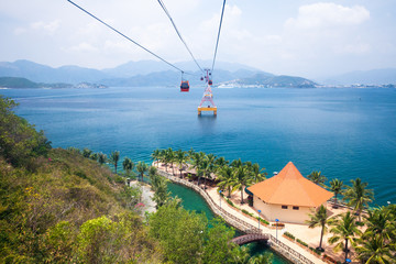 World's longest cable car over sea, Nha Trang