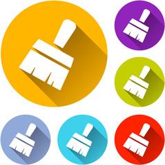 paintbrush icons