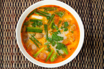 Thai Tom Yam traditional soup