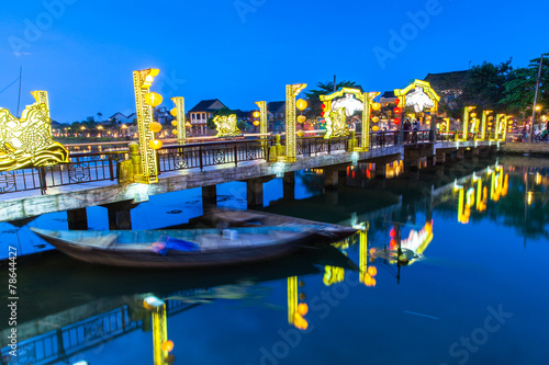 City on the water Old bridge at Hoi An ancient town