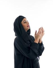 Beautiful muslim arabic woman praying
