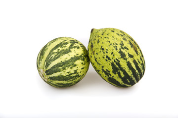 melons isolated on white background