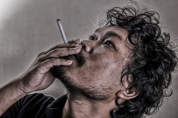 Man smoking (Retro style)