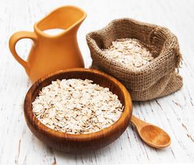 bowl of oat flake