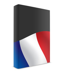France book cover flag black